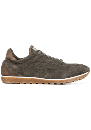 Alberto Fasciani perforated lace-up sneakers - Brown