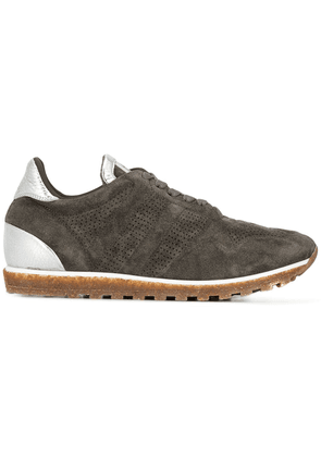 Alberto Fasciani perforated lace-up sneakers - Grey