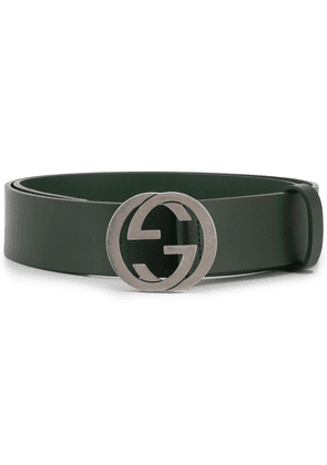 Gucci Double G buckle belt - Green