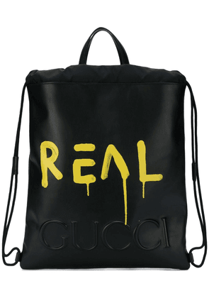 Gucci GucciGhost drawstring backpack - Black