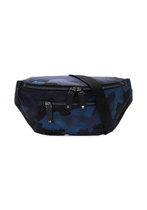Valentino Valentino Garavani blue and black Camo print cross body bag
