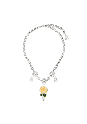 Dolce & Gabbana flower drop pendant - Metallic