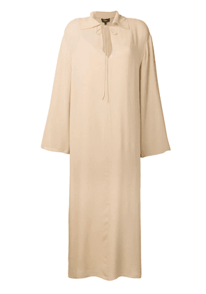 Theory long-sleeve flared dress - Neutrals