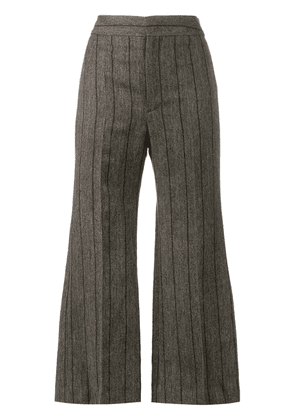 Isabel Marant Keroan flared cropped trousers - Grey