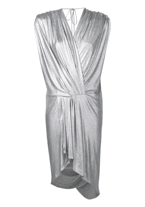 Circus Hotel ruched short dress - Silver