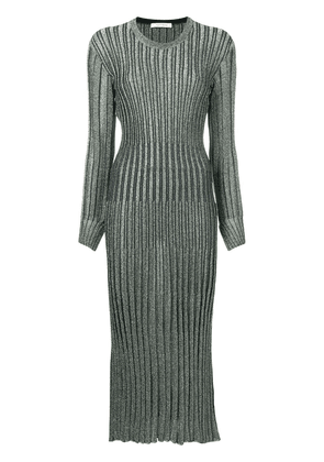 Cédric Charlier sparkly ribbed knit dress - Green