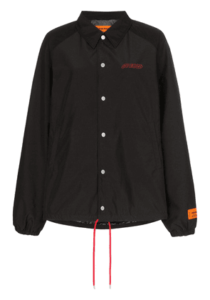 Heron Preston CTNMB embroidered coach jacket - Black