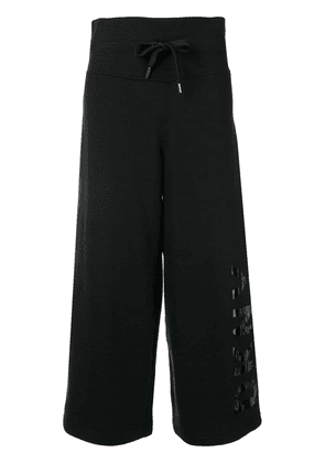DKNY cropped track pants - Black