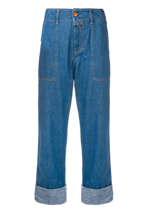 Closed cropped jeans - Blue