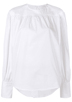 Calvin Klein long-sleeved blouse - White
