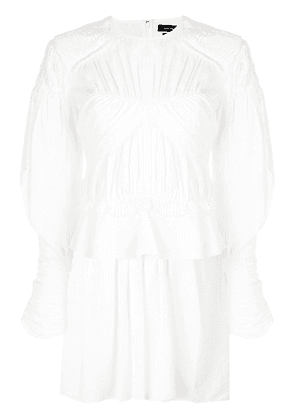 Isabel Marant draped poplin dress - White
