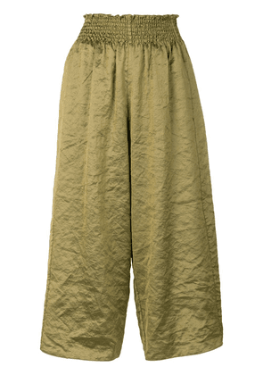 Forte Forte silk blend culottes - Yellow