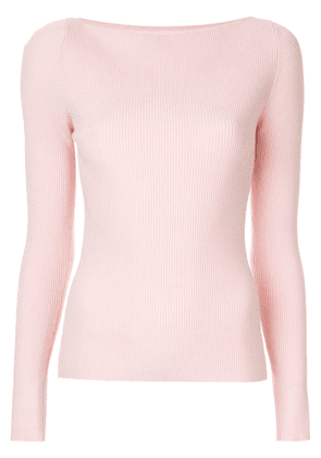 Dion Lee shadow ribbed knit top - Pink
