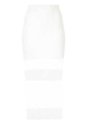 Dion Lee Opacity pleated skirt - White