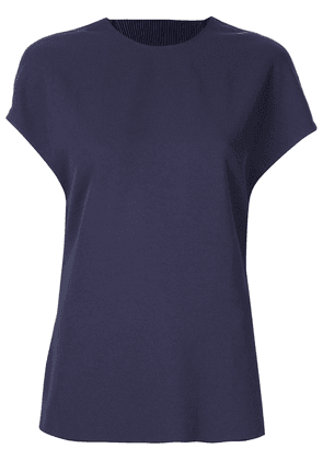 Dion Lee Corrugated pleated back T-shirt - Blue