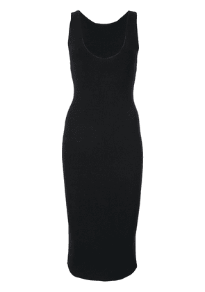 Dion Lee shadow ribbed tank dress - Navy