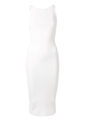 Dion Lee shadow ribbed knit tank dress - White