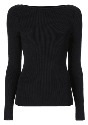 Dion Lee shadow ribbed knit top - Black