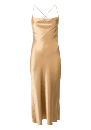 Dion Lee bias weave cowl dress - Gold