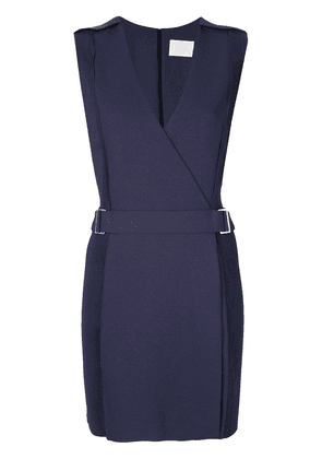 Dion Lee corrugated plated panel mini dress - Blue