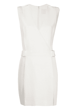 Dion Lee corrugated pleated panel mini dress - White