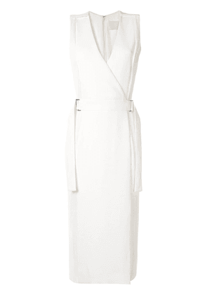 Dion Lee corrugated pleated side panel dress - White