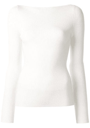 Dion Lee Shadow knit sweater - White