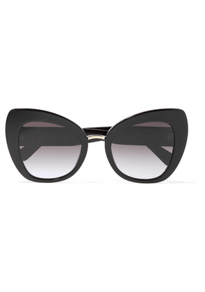 Dolce & Gabbana - Oversized Cat-eye Acetate And Gold-tone Sunglasses - Black