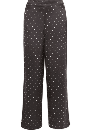 ASCENO - Polka-dot Silk-satin Pajama Pants - Black