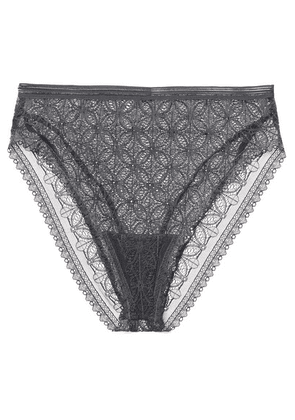 ELSE - Chloe Stretch-lace Briefs - Charcoal