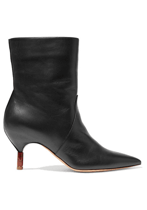 Gabriela Hearst - Mariana Leather Ankle Boots - Black