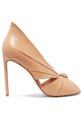 Francesco Russo - Knotted Leather Pumps - Neutral