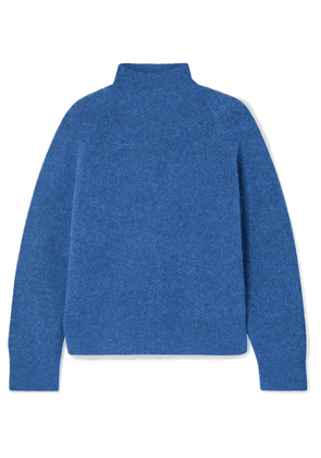 By Malene Birger - Ribbed-knit Turtleneck Sweater - Storm blue