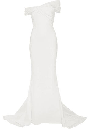 Cushnie - Off-the-shoulder Crepe Gown - White