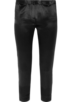 Ann Demeulemeester - Cropped Satin Slim-leg Pants - Black