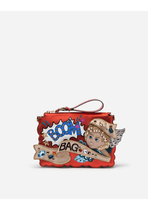 Dolce & Gabbana Mini Bags and Clutches - BOOK BAG WITH PATCH AND EMBROIDERIES MULTI-COLORED