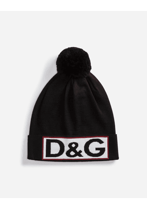 Dolce & Gabbana Hats and Gloves - WOOL HAT WITH POMPOM MULTICOLOR