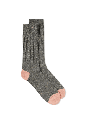 Anonymous Ism Tweed Knitted Yarn Crew Sock