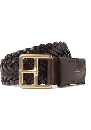 Mulberry - 4cm Brown Woven Leather Belt - Brown