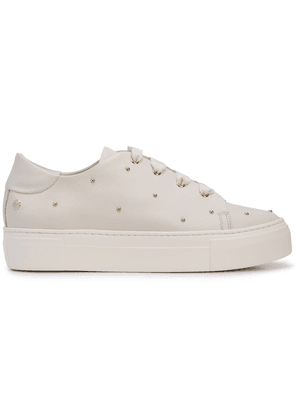 Agl studded lace-up sneakers - White