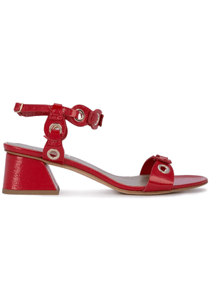 Agl eyelet detail sandals - Red
