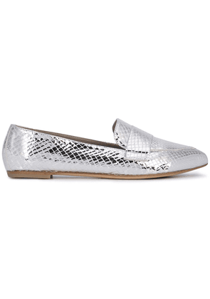 Agl metallic finish loafers - Silver