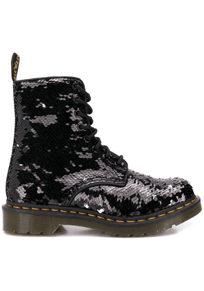 Dr. Martens sequined military boots - Black