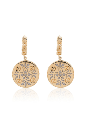 Gucci Gold and enamel Icon floral earrings - Metallic