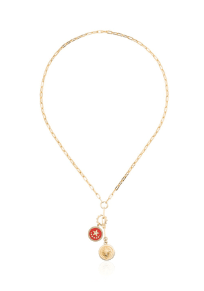 Foundrae 18k gold Strength belcher chain necklace with diamond -