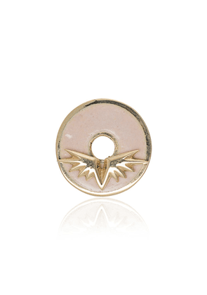Foundrae 18K yellow gold and enamel wings charm - Pink