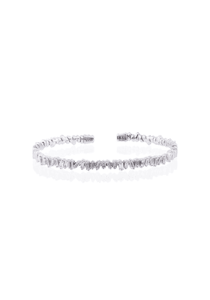 Suzanne Kalan 18K white gold and diamond Fireworks Classic baguette