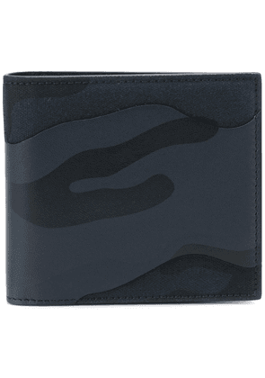 Valentino camouflage fold out wallet - Blue