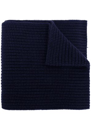 Dolce & Gabbana ribbed knit scarf - Blue