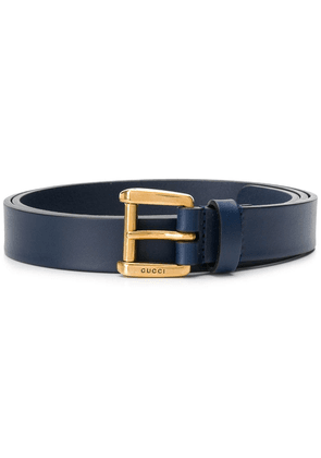 Gucci logo embossed tang buckle - Blue